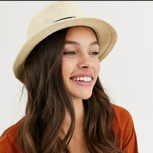 ASOS DESIGN | Straw Trilby Hat/Natural/OS